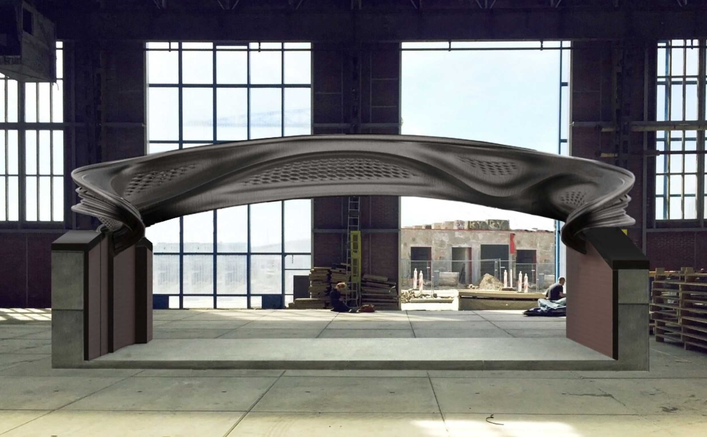 A digital twin of the world's first 3D printed steel bridge