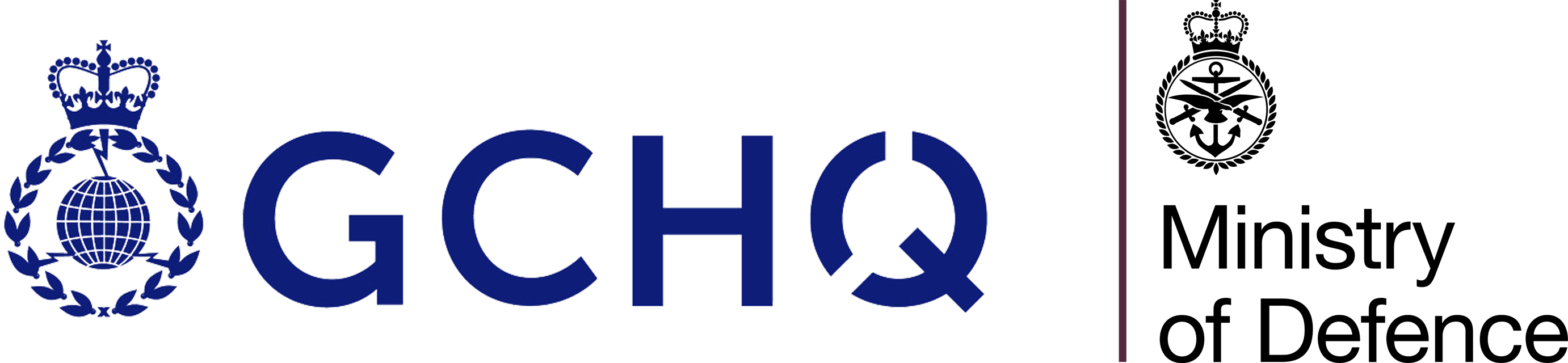 Logos of GCHQ and MoD