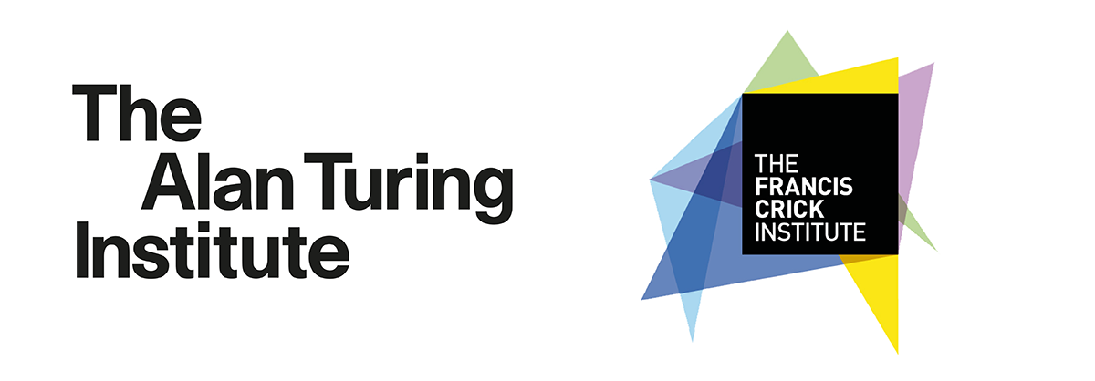 The Alan Turing Institute and The Francis Crick Institute Logos