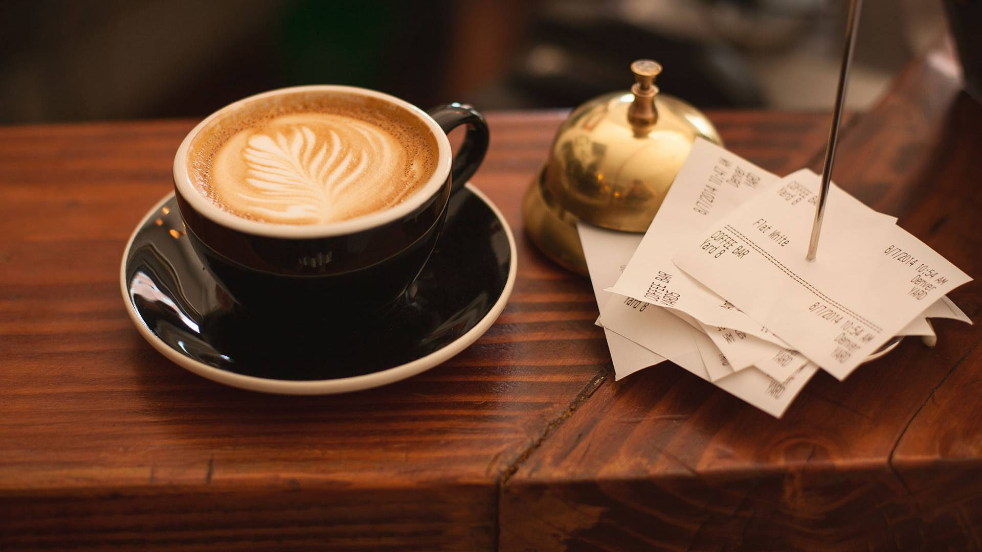 Coffee and receipts