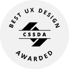 CSS Design Awards - Best UX